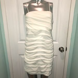 Tiered white dress